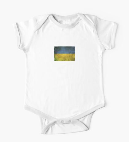 Old and Worn Distressed Vintage Flag of Ukraine One Piece - Short Sleeve