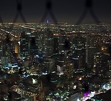 Melbourne from Above by eegibson