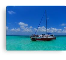 Sailing the Caymans Canvas Print
