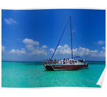 Sailing the Caymans Poster