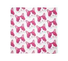 Happy Smiling Cat Face Pattern Pink Scarf