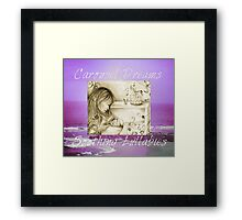 Vintage Carousel Dreams Purple Ocean & Sky Large Framed Print