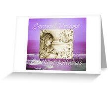 Vintage Carousel Dreams Purple Ocean & Sky Large Greeting Card