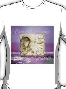 Vintage Carousel Dreams Purple Ocean & Sky Large T-Shirt
