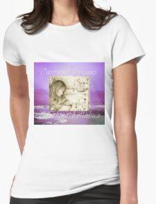 Vintage Carousel Dreams Purple Ocean & Sky Large Womens Fitted T-Shirt