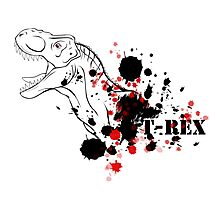 T-Rex (Red and Black) Photographic Print