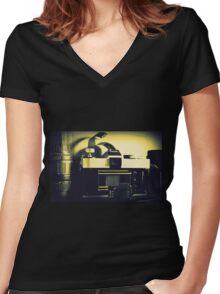 Of Days Gone By Women's Fitted V-Neck T-Shirt