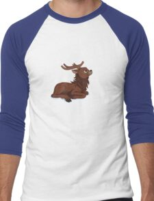 Winter Reindeer Men's Baseball ¾ T-Shirt