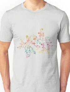 Floral Music Notes 2 T-Shirt