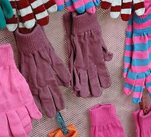 colorful striped winter glove by bayu harsa