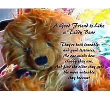 Friends are like teddy bears Photographic Print