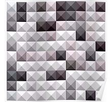 Davy Gray Abstract Low Polygon Background Poster
