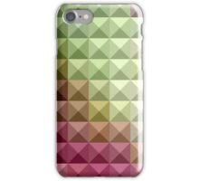Deep Mauve Purple And Green Abstract Low Polygon Background iPhone Case/Skin