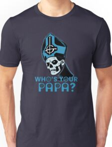 WHO'S YOUR PAPA? - blue Unisex T-Shirt