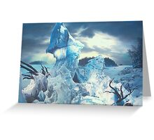 """Along the Frozen Lake"" Greeting Card"