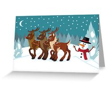 Reindeer in the Snow Greeting Card
