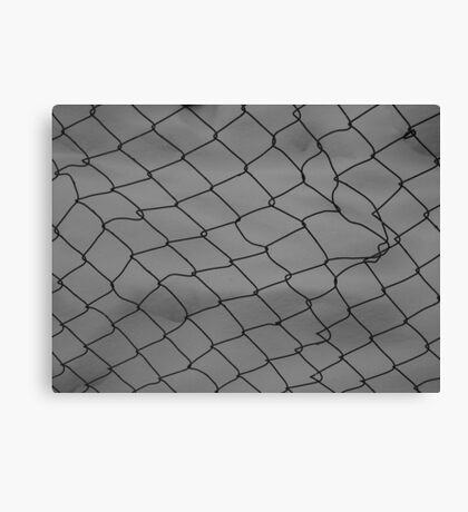 Fence Snow Canvas Print
