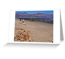 A sunset stroll on Gordon's Bay beach, South Africa Greeting Card