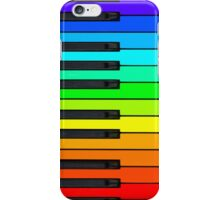 Rainbow Piano Keyboard  iPhone Case/Skin