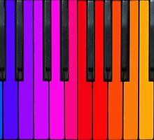 Rainbow Piano Keyboard  by Kitty Bitty
