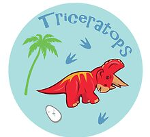 Cute Triceratops by thekohakudragon