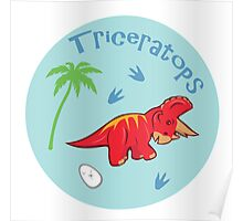 Cute Triceratops Poster