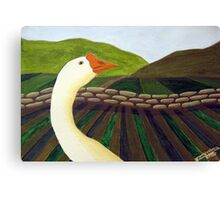 310 - THE LONE GOOSE - DAVE EDWARDS - ACRYLIC - 2010 Canvas Print