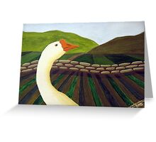 310 - THE LONE GOOSE - DAVE EDWARDS - ACRYLIC - 2010 Greeting Card