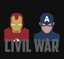 Marvel's Civil War -  Iron Man vs. Captain America by moonknight