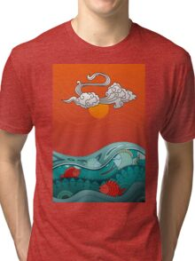Fish Float Tri-blend T-Shirt