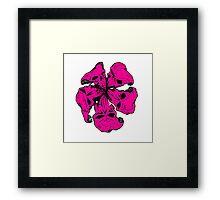 Hibiscus Skull Single solid Framed Print