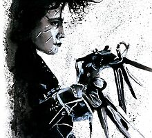 Scissorhands Splatter by studioofmm