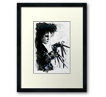 Scissorhands Splatter Framed Print