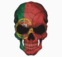 Portuguese Flag Skull by Jeff Bartels