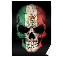 Mexican Flag Skull Poster