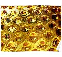 Yellow bubble coloured glass  Poster