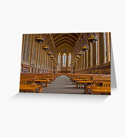 Suzzallo Library (University of Washington) (HDR Version 2) Greeting Card