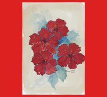 Red & Blue Hibiscus T-Shirt