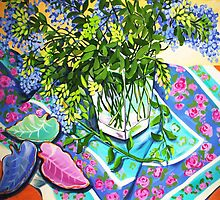 Leafy Still Life by marlene veronique holdsworth
