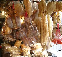 Dried fish at Tai O Market, Lantau Island, Hong Kong by Camelot