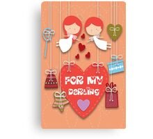 For My Darling Canvas Print