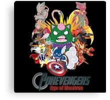 Pokevengers: Age of Mewtron Canvas Print