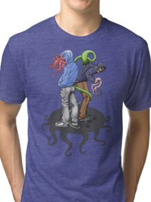 Rapt in Tentacles Tri-blend T-Shirt