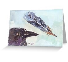 A Crow's Wing Feather Greeting Card