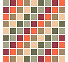 Retro Squares Pattern Photographic Print
