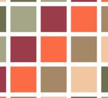 Retro Squares Pattern Sticker