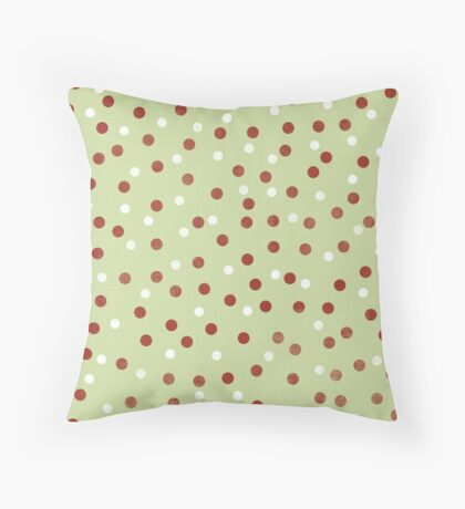 White and Brown Spotted Pattern Throw Pillow