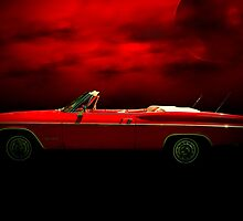 """1965 Chevrolet Impala SS Convertible  """"Red Dawn""""  by TeeMack"""