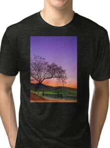 Sunset by the Gate - Gloucester NSW Australia Tri-blend T-Shirt