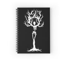 Tree of Death (White Vers.) Spiral Notebook